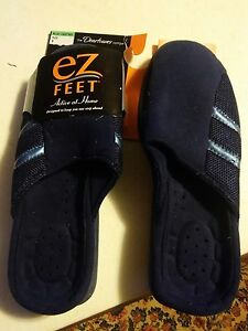 000 New EZ Feet Alive at Home By Dearforms Size 9 Dark Blue Light Blue Stripes