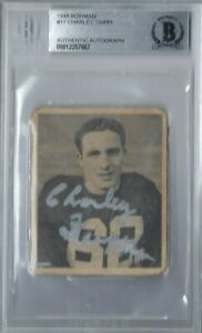 CHARLEY TRIPPI 1948 48 BOWMAN SIGNED AUTO AUTOGRAPH ROOKIE RC #17 BGS AUTHENTIC