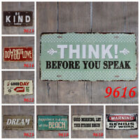 Positive thinking Tin Sign Wall Painting Plaque Cafe Bar Homedecor Hanging Signs