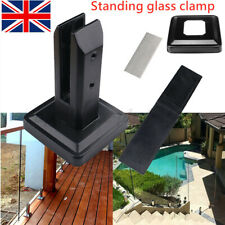 More details for floor standing stairs balcony pool glass spigots post balustrade railing clamp