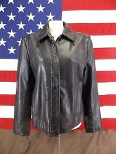Paradox Leather Jacket Coat Black Size L Women's