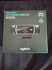 Logitech C922 Pro Stream HD Webcam with tripod Black NEW IN HAND FREE SHIPPING