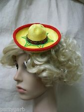 Mini Festive Yellow Mexican Sombrero Hat Adult Pet Fiesta Senorita Senor Spanish