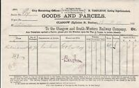 Glasgow & South-Western Railway Co. 1880 Goods and Parcels Bars Invoice Rf 42562