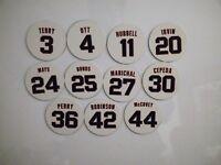 San Francisco Giants Retired Jerseys Fridge Magnets - Pick Any Retired Number