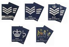 Pair of Regulation RAFAC NCO SNCO WO Rank Slides Blue ( RAF Rank Slides - NEW