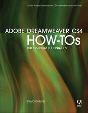 Adobe Dreamweaver CS4 How-Tos: 100 Essential Techniques, David Karlins, Good Con