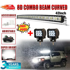 """7D 42Inch Curved 2400W LED Light Bar Spot Flood 4WD Boat Offroad SUV Driving 44"""""""