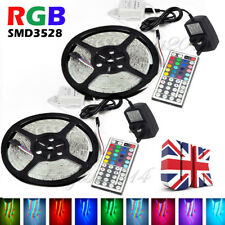Double 5M SMD RGB 3528 Waterproof 300 LED Strip light 44 Key Remote 12V 2A Power