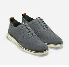 Cole Haan Mens Original Grand Stitchlite 9.5 Grey Magnet Ivory NEW Oxford Shoes
