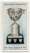 London Inter-Hospitals Rugby Football Challenge Cup 1920s  Ad Trade Card