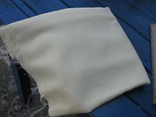 Coupon Tissu Couleur Jaune Paille Polyester Leger Relief des Fils
