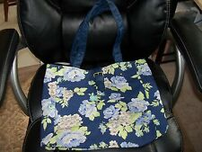 Aeropostale Blue Floral Print Tote Bag NEW LAST ONE HTF