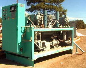 Dual 125 hp pump (250T) MTS Systems Hydraulic Power Unit. Flutter fatigue test