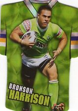 2009 NRL Select Classic Die Cut CANBERRA RAIDERS BRONSON HARRISON JDC16 CARD