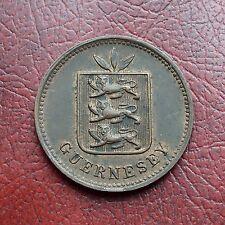 Guernsey 1889H bronze 4 doubles