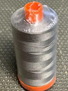 Gray 2625 Aurifil Mako' Ne 50/2 GR 30 1 MQ 100% Cotton Thread Italy 1422 Yards