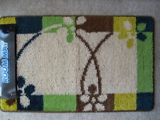 """Rubber Back MULTI-color Contemporary Door Mat Rug RECTANGLE 19.5"""" x 32"""" BY DADA"""