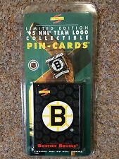 NHL 1995 PINNACLE BOSTON BRUINS ICE HOCKEY PIN BADGE AND CARD SET