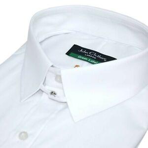 Tab Collar Shirt for Men James Bond collar French style Cuffs 100% Cotton shirt