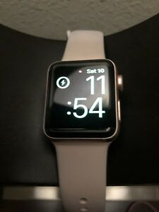 Apple Watch Series 2 38mm Rose Gold Aluminum Pink Sport Band MNNY2LL/A w/Extras