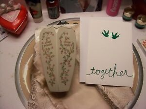 "Lenox ""Love"" vase & Christmas card husband wife anniversary birthday Christmas"