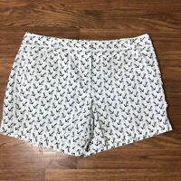 J Crew Womens Shorts City Fit Anchor Nautical White Black Patterned Chino Size 8