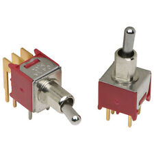2 Subminiature Right Angled PCB Toggle Switch DPDT (355) On-Off-On