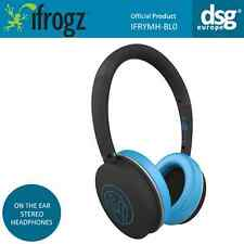 iFrogz Rythmix - On The Ear Stereo Headset Headphones Blue - NO AUDIO CABLE