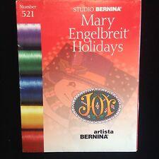 Holiday Christmas Embroidery Designs Card #521 for Bernina Artista & Deco