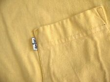 VINTAGE 90s LEVIS pocket t shirt mens L made in USA yellow