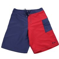 Oakley Board Shorts Size 32 Red & Blue Surf Swim Beach