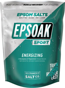 Epsoak SPORT Epsom Salt For Athletes - 5 Lbs. ENERGIZING Therapeutic Soak With E