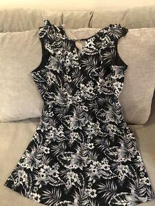 Tokito Myer Gorgeous Black Tropical Summer Dress Size 14