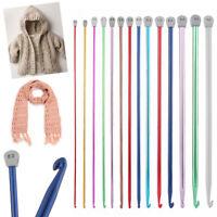 Tunisian Afghan Scarf Long Aluminum Knitting Needle Weaving Tool Crochet Hooks