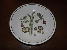 "Williams Sonoma 13""D asparagus mushroom radishes serving bowl made in Portugal"