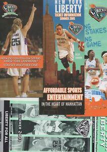NINE ( 9 ) NEW YORK LIBERTY WNBA MSG TIX INFO BROCHURE/ADS - BECKY HAMMON