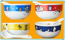 Moomin Soup Mug Cup & Spoon Set of 4 Sold at KFC Japan LTD VERY RARE NEW