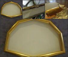 cornice ventagliera in legno lavorato a foglia oro