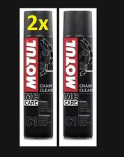 2x NEW Motul CHAIN CLEAN CLEANER 400ml = 800ml Degreaser Care Aerosol 450130