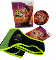 Zumba Fitness Join The Party (Nintendo Wii) w/Fitness Belt Exercise-Tested CIB