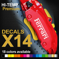 Ferrari HI-TEMP PREMIUM BRAKE CALIPER DECALS STICKERS CAST VINYL