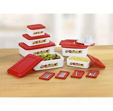 5er Set Frischhaltedosen Vorratsdosen mit Küchenreibe m. 5 Aufsätzen Gefrierdose