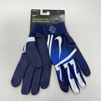 NWT Nike Huarache Pro Batting Gloves Large Navy White Baseball Softball Adult