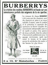 Publicité Ancienne  Vêtements Burberrys  Chasse  1933