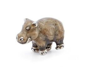 Saturno Sterling Silver and Enamel Hippo