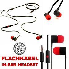 Original Flachkabel Headset In-Ear Kopfhörer Earphone für Wiko Rainbow Up / Lite