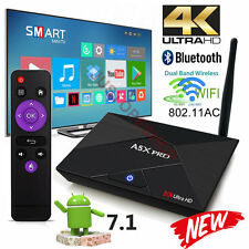 A5X PRO 2GB+16GB Android 7.1 Nougat TV Box Quad Core KD 17.1 2.4/5Ghz AC WI-FI
