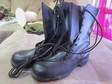 U.S. Army Issue Leather Combat Boots, 1960's- 70's.