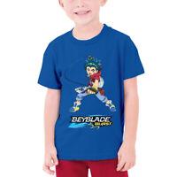 Boys Beyblade Kids Cotton T-Shirt Tops Short Sleeve Summer Shirts S-XL